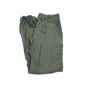 New Lululemon Studio III pants in olive.